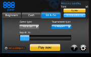 888poker Android SNG lobby