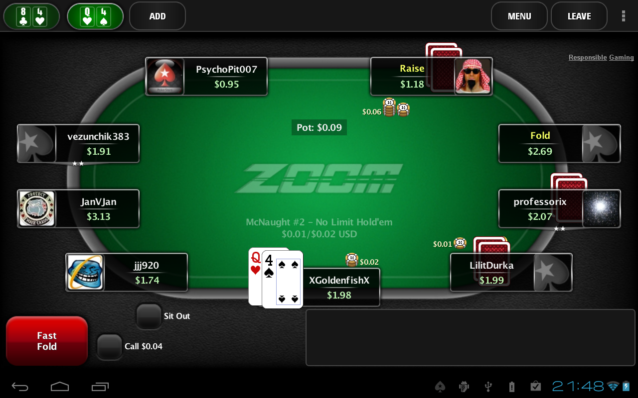 Pokerstars android