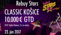 LIVE REPORT - Rebuy Stars: CLASSIC - 25 € TRIPLE CHANCE, 2 re-entry, 10.000 € GTD
