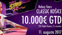 LIVE REPORT - Rebuy Stars: CLASSIC - 25 € TRIPLE CHANCE, 2 re-entry, 10.000 € GTD ovládol bez dealu Balla Kolos
