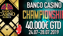 LIVE REPORT: Banco Casino Košice - Banco Casino Championship 40.000€ DAY B!